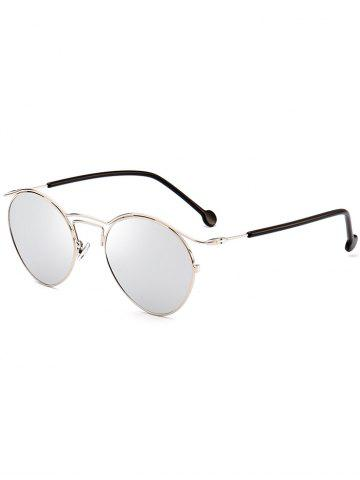Outfits Retro Metal Pilot Shades Sunglasses SILVER FRAME + WHITE LENS