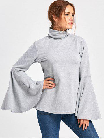 Flare Sleeve High Neck Top