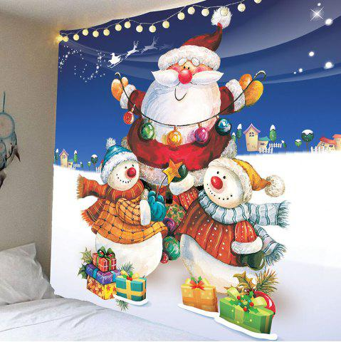 Colorful W91 Inch * L71 Inch Christmas Snowman And Santa Claus ...