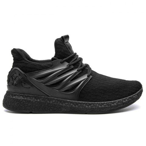 Discount Breathable Striped Lace Up Casual Shoes