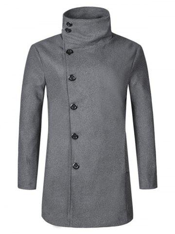 Online Turtle Neck Single Breasted Woolen Coat