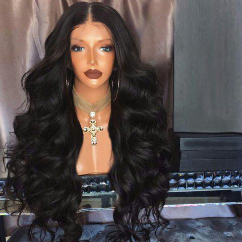 Unique Long Middle Part Fluffy Loose Wave Lace Front Synthetic Wig