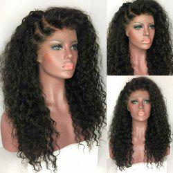 Long Deep Side Part Fluffy Kinky Curly Synthetic Lace Front Wig -