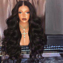 Long Middle Part Fluffy Loose Wave Lace Front Synthetic Wig -