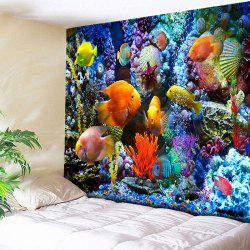 Sea Animal World Print Wall Art Tapestry - Colorful - W79 Inch * L59 Inch