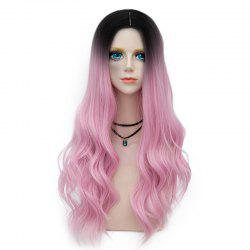 Long Layered Center Parting Wavy Synthetic Party Wig -