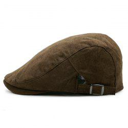 Two Sides Adjustable Buckles Plain Cabbie Hat -