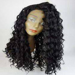 Long Side Part Shaggy Big Curly Lace Front Synthetic Wig -