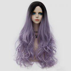 Side Parting Layered Shaggy longue perruque ondulée Colormix Synthetic Party -