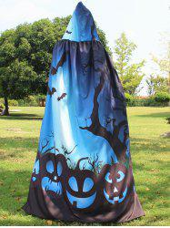 Magic Cloak with Halloween Printed - BLUE