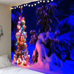 Snow Night Light Decorative Christmas Tree Hanging Tapestry - Colorful - W79 Inch * L71 Inch