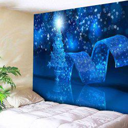 Christmas Graphic Bedroom Decor Wall Tapestry - Blue - W91 Inch * L71 Inch