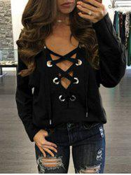 Lace Up Plunge Top -