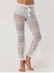 Lace See Through Flare Pants -