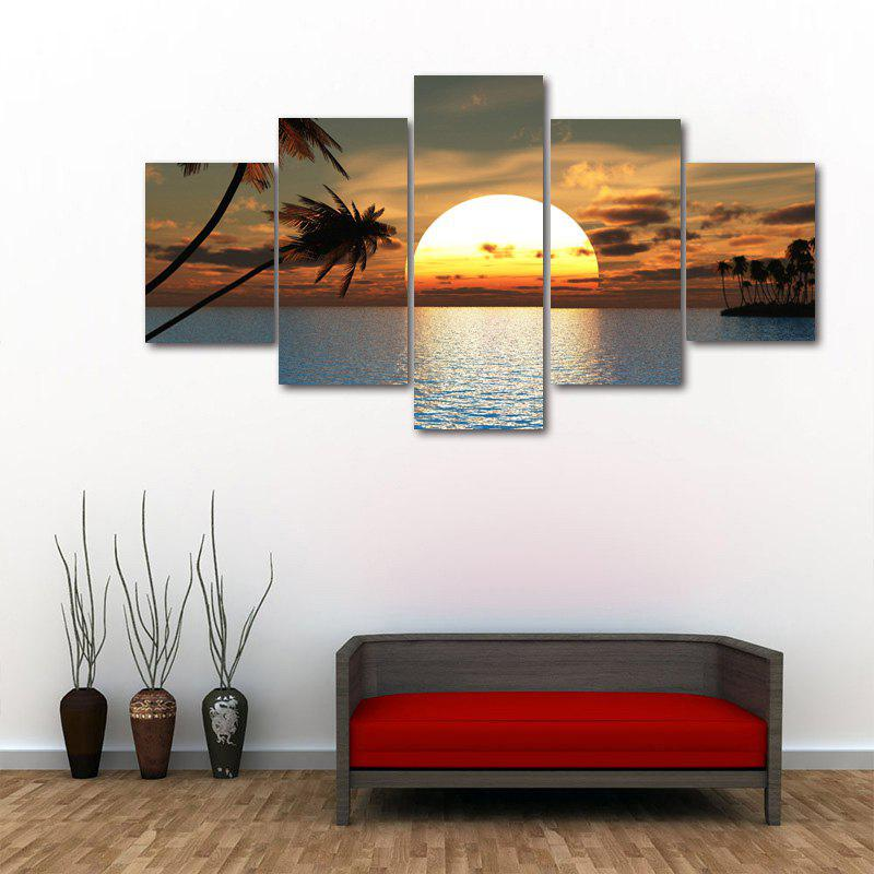 Ocean Sunset Print Unframed Split Canvas Paintings