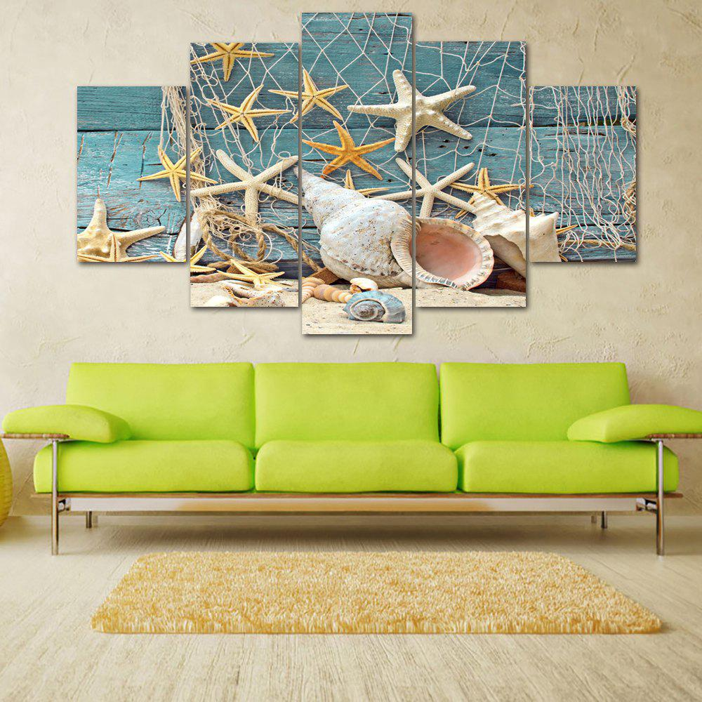 Beach Fishnet Starfish Print Unframed Split Canvas Paintings