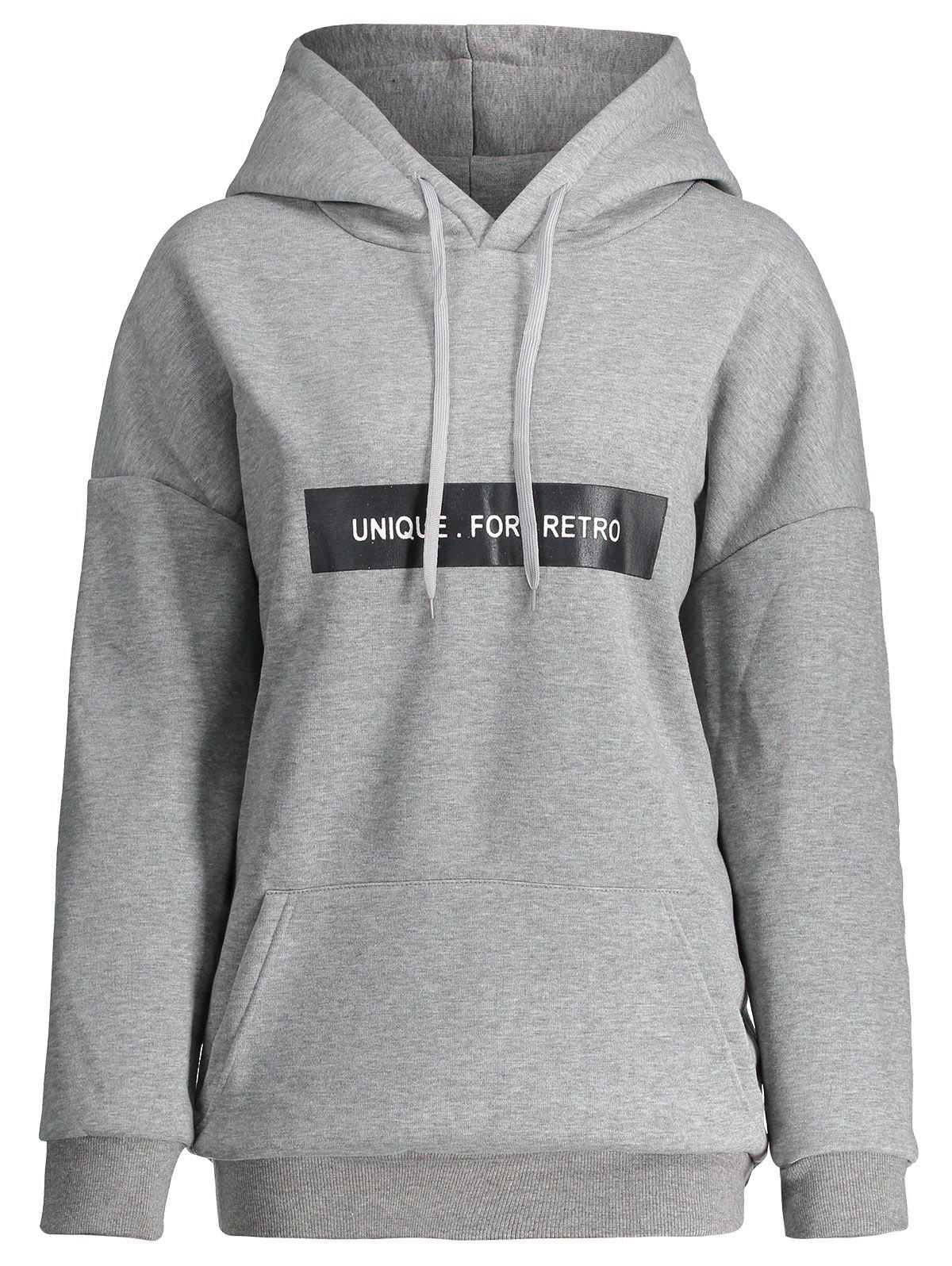 Cheap Pocket Plus Size Unique For Retro Hoodie