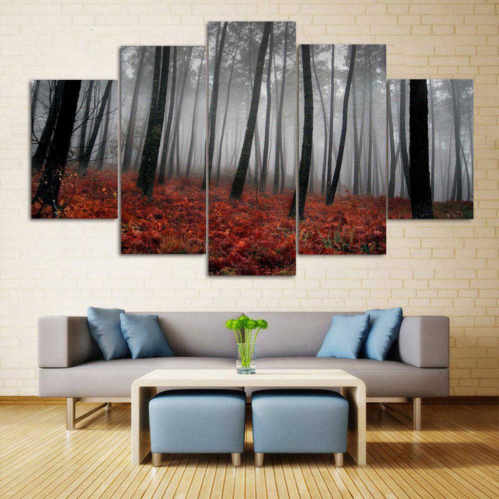 Fog Forest Wall Art Split Canvas Print PaintingsHOME<br><br>Size: 30*40CM*2PCS/30*60CM*2PCS/30*80CM*1PCS; Color: GRAY; Features: Decorative; Hang In/Stick On: Bedrooms,Hotels,Living Rooms,Offices,Stair; Shape: Horizontal; Form: Five Panels,Four Panels; Frame: No; Material: Canvas; Package Contents: 1 x Canvas Paintings (Set);