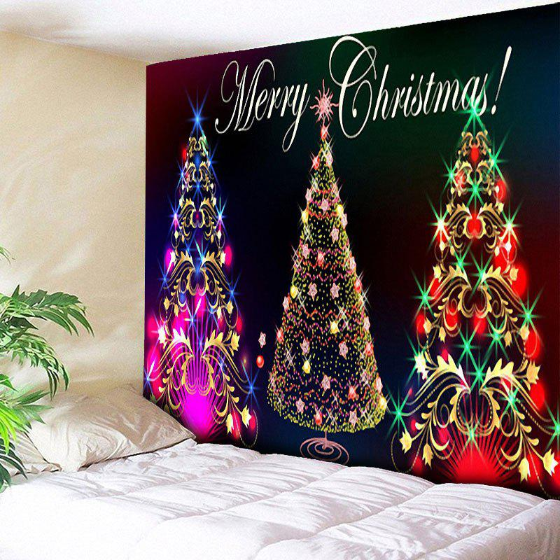 Wall Hanging Christmas Tree Pattern TapestryHOME<br><br>Size: W79 INCH * L59 INCH; Color: COLORFUL; Style: Festival; Theme: Christmas; Material: Cotton,Polyester; Feature: Removable,Washable; Shape/Pattern: Letter,Print,Tree; Weight: 0.3000kg; Package Contents: 1 x Tapestry;