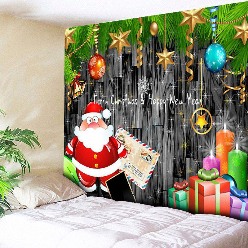 Christmas Wall Decor Santa Claus TapestryHOME<br><br>Size: W79 INCH * L59 INCH; Color: GRAY; Style: Festival; Theme: Christmas; Material: Cotton,Polyester; Feature: Removable,Washable; Shape/Pattern: Ball,Star; Weight: 0.3000kg; Package Contents: 1 x Tapestry;