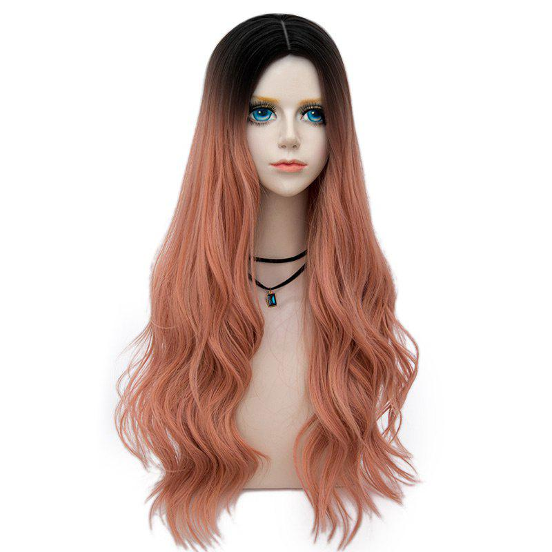 Outfit Long Layered Center Parting Wavy Synthetic Party Wig
