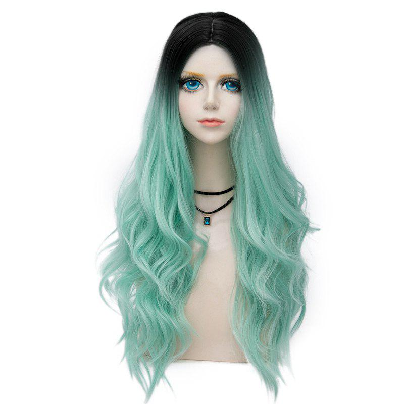 Shop Long Layered Center Parting Wavy Synthetic Party Wig