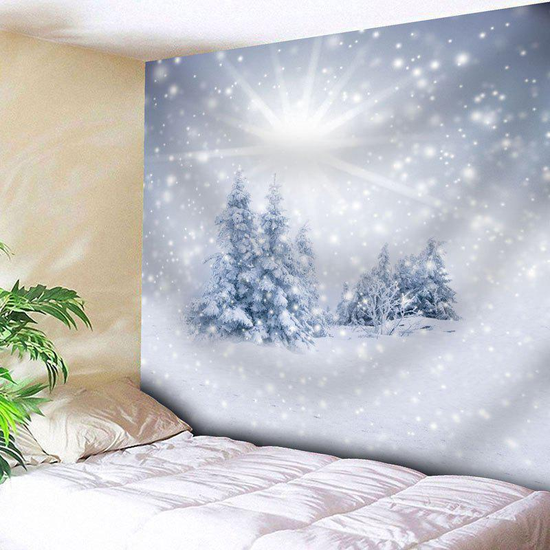 Wall Hanging Christmas Snow Tree TapestryHOME<br><br>Size: W79 INCH * L71 INCH; Color: WHITE; Style: Festival; Theme: Christmas; Material: Nylon,Polyester; Feature: Removable,Washable; Shape/Pattern: Snow,Tree; Weight: 0.3000kg; Package Contents: 1 x Tapestry;