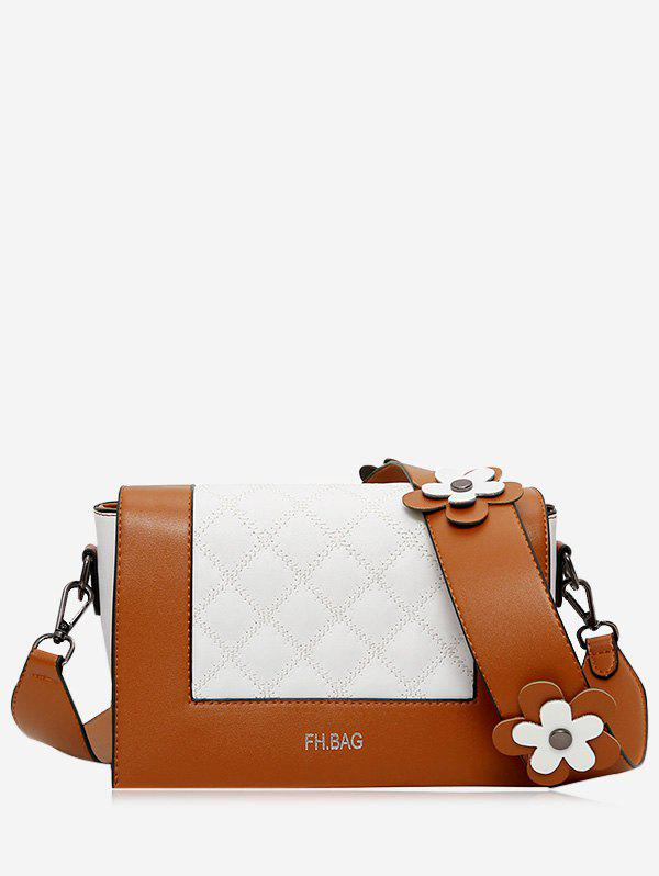 Shops Color Block Flower Quilted Crossbody Bag