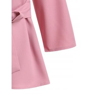 Plus Size Skirted Belted Blouse - PINK 2XL