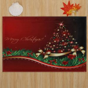 Christmas Tree Print Antislip Bath Mat -