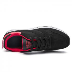 Color Block Mesh Low Top Athletic Shoes - RED 43
