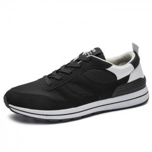 Color Block Mesh Low Top Athletic Shoes - WHITE 43
