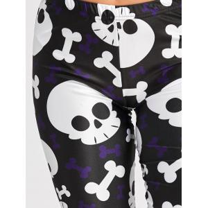 Citrouille Spider Web Skull Halloween Leggings -