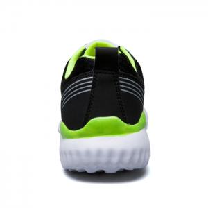 Breathable Mesh Lace Up Sneakers - NEON GREEN 43