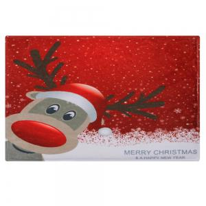 Christmas Deer Pattern Anti-skid Water Absorption Area Rug -