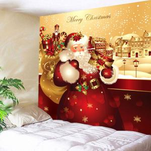 Waterproof Father Christmas Printed Wall Hanging Tapestry -
