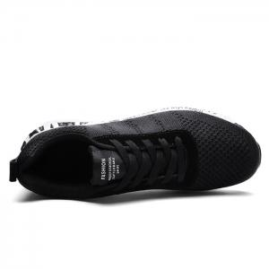 Mesh Letter Breathable Sneakers - BLACK 39