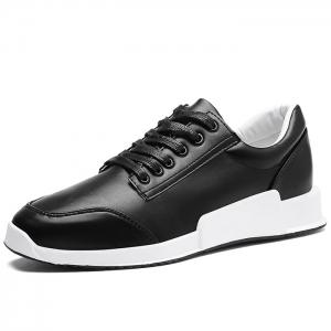 Colorblock Round Toe Sneakers - BLACK 40