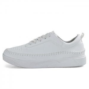 Whipstitch Faux Leather Low-top Sneakers - WHITE 40
