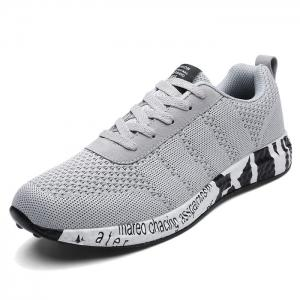 Mesh Letter Breathable Sneakers - GRAY 42
