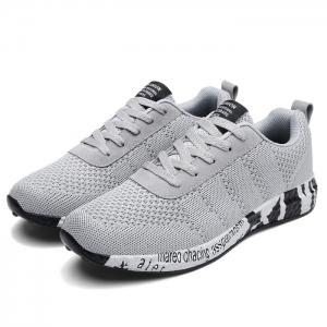 Mesh Letter Breathable Sneakers - GRAY 39