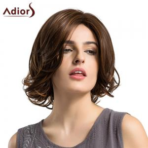 Adiors Short Side Parting Tail Upwards Straight Bob Colormix Synthetic Wig - COLORMIX
