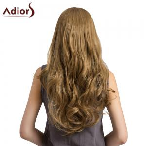 Adiors Long See-Trough Fringe Layered Curly Synthetic Wig -