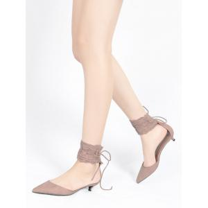 Ankle Strap Two Pieces Pointed Toe Sandals -