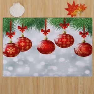 Christmas Baubles Pattern Anti-skid Water Absorption Area Rug - COLORMIX W16 INCH * L24 INCH