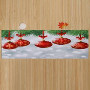 Christmas Baubles Pattern Anti-skid Water Absorption Area Rug - COLORMIX W24 INCH * L71 INCH