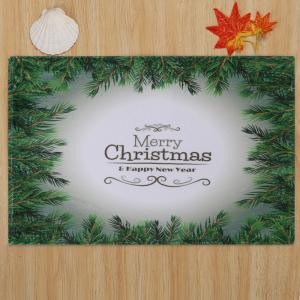 Merry Christmas Pattern Anti-skid Water Absorption Area Rug - Multicolore Largeur 24 pouces*Longueur 35.5 pouces