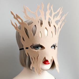 Halloween Party Tree Mask - KHAKI