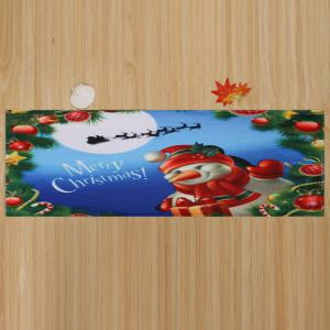 Merry Christmas Snowman Pattern Antidérapant Tapis de zone d'absorption d'eau -