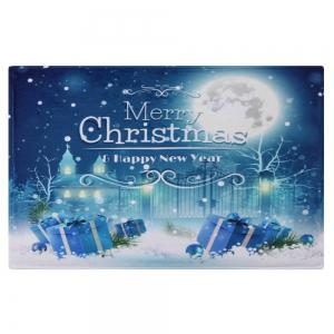 Christmas Night Pattern Anti-skid Water Absorption Area Rug -